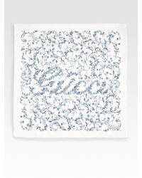 Gucci | White Florasign Silk Scarf | Lyst
