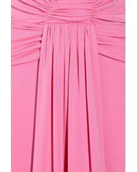 Issa - Pink Plunge-Front Silk-Jersey Gown - Lyst