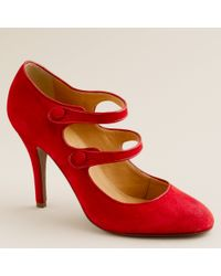 J.Crew | Red Mona Mary Janes | Lyst