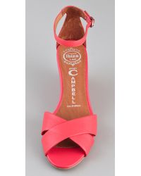 Jeffrey Campbell | Pink Trudeau Wedge Sandals | Lyst