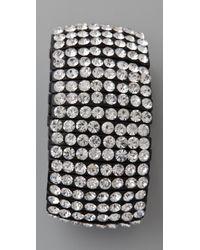 Kenneth Jay Lane - 8 Row Black Crystal Bracelet - Lyst