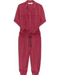 Lover | Red Modernist Cotton Jumpsuit | Lyst