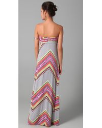 Mara Hoffman | Pink Bandeau Maxi Dress | Lyst