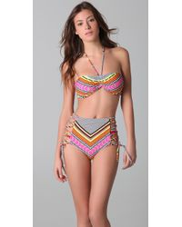 Mara Hoffman | White High Waisted Lace Up Bikini | Lyst