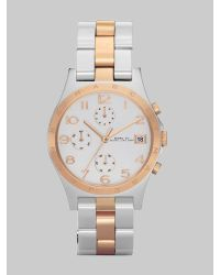 Marc By Marc Jacobs | Metallic Henry Two-tone Bracelet Watch | Lyst
