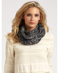 Marc By Marc Jacobs | Gray Python-print Scarf | Lyst