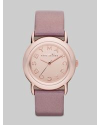 Marc By Marc Jacobs | Pink Marci Rose Gold Dial Watch | Lyst