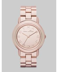 Marc By Marc Jacobs | Pink Marci Rose Gold Ip Bracelet Watch | Lyst