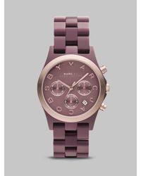 Marc By Marc Jacobs | Pink Rose Gold Ion-plated Chronograph Watch | Lyst