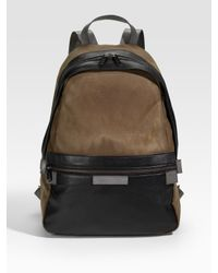 Marc By Marc Jacobs - Brown Cotton and Leather Backpack for Men - Lyst