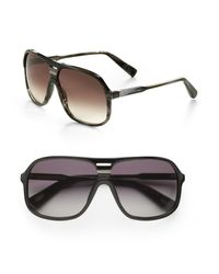 Marc Jacobs | Brown Plastic Shield Sunglasses for Men | Lyst