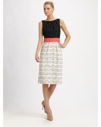 MILLY   Multicolor Lily Combo Lace Dress   Lyst