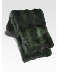 Oscar de la Renta - Gray Fur-Trimmed Cashmere Dress - Lyst