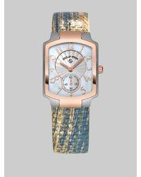 Philip Stein | Blue Two-tone Watch On Interchangeable Karung Strap | Lyst