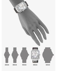 Philip Stein - Metallic Small Gunmetal Karung Strap Watch - Lyst