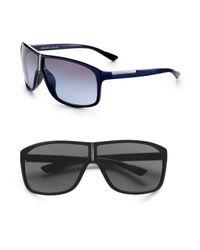Prada | Black Shield Sunglasses for Men | Lyst
