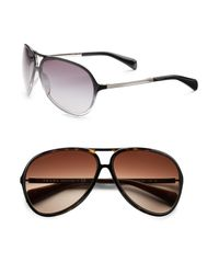 Prada | Brown Aviator Sunglasses for Men | Lyst