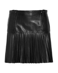 Rag & Bone | Black Ezra Pleated Leather Mini Skirt | Lyst
