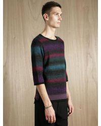 Sasquatchfabrix | Multicolor Mens Mohair Multi Border Sweater for Men | Lyst