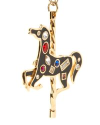 Ted Baker - Black Isolde Carousel Pendant Necklace - Lyst