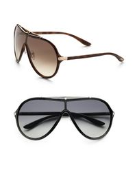 Tom Ford | Black Ace Shield Sunglasses for Men | Lyst