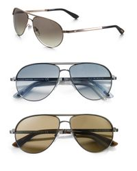 Tom Ford | Metallic Marko Aviator Sunglasses for Men | Lyst