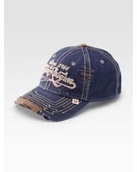 True Religion | Blue Script Logo Baseball Cap for Men | Lyst