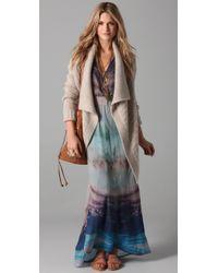 Twelfth Street Cynthia Vincent - Blue Flutter Sleeve Maxi - Lyst