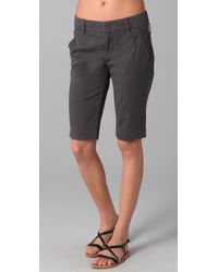 Vince | Gray Side Buckle Bermuda Shorts | Lyst