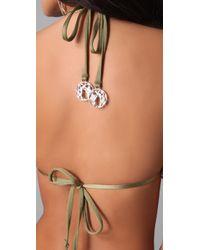 Zimmermann | Green Charmer Looped Triangle Bikini | Lyst