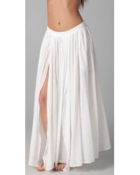 Zimmermann | White Charmer Split Skirt | Lyst
