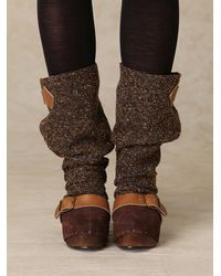 Free People | Brown Longer Lashes Clog Boot | Lyst