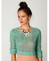 Free People | Green Caldra Layer Pullover | Lyst