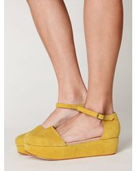 Free People | Yellow Daphne Platform | Lyst