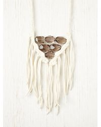 Free People - White Nomad Quartz Necklace - Lyst