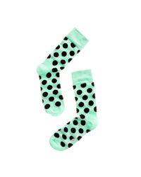 Happy Socks - Green Big Dot Socks - Lyst