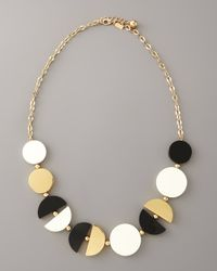 kate spade new york | Metallic Double-exposure Necklace | Lyst