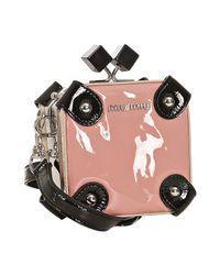 Miu Miu | Pink Patent Lambskin Camera Case Kisslock Handbag | Lyst