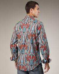Robert Graham | Red Flamenco Paisley Sport Shirt for Men | Lyst