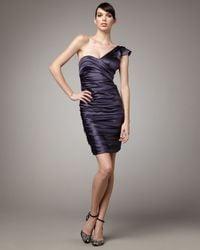 Vera Wang Lavender | Blue Ruched One-shoulder Dress | Lyst