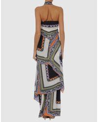 Etro | Brown Aztec Print Maxi Dress | Lyst