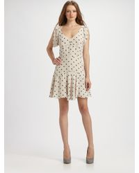 Rebecca Taylor | Natural Ikat Silk 40's Dress | Lyst
