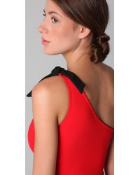 3.1 Phillip Lim | Red Asymmetrical One Piece | Lyst