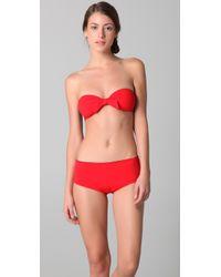 3.1 Phillip Lim | Red Contrast Tie Bandeau Bikini Top | Lyst