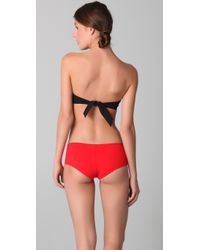 3.1 Phillip Lim - Red Contrast Tie Bandeau Bikini Top - Lyst