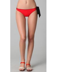 3.1 Phillip Lim | Red Side Bow Tie Bikini Bottoms | Lyst