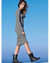 Free People | Black Costas Striped Maxi Dress | Lyst