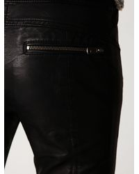 Free People - Black Rocker Vegan Leather Pant - Lyst