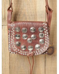 Free People - Brown Studded Moroccan Crossbody - Lyst