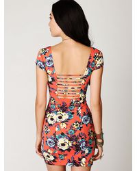 Free People - Multicolor Cage Back Bodycon Slip - Lyst